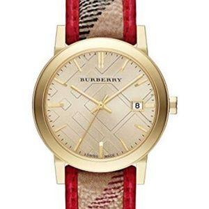 New Burberry Bu9139 Stick Haymarket Women's Watch